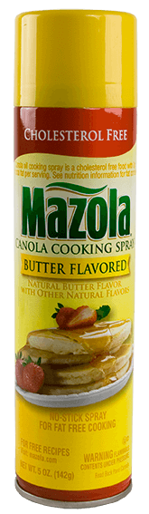 Mazola<sup>®</sup> No-Stick Butter-Flavored Cooking Spray